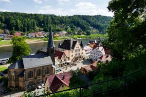 Blick auf den Markt von der Burgruine